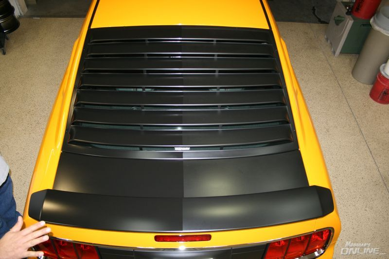 Flat Black hood paint
