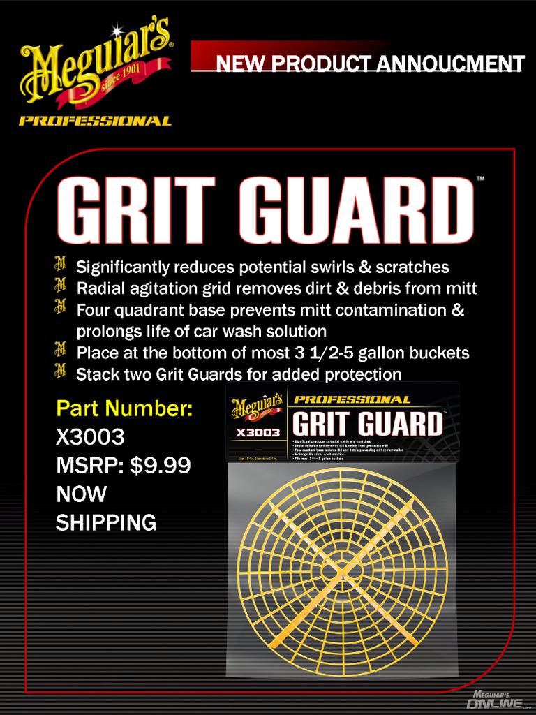 New Meguiar S Grit Guard