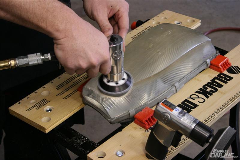 Using Meguiar's New Pro Headlight & Spot Repair Kit